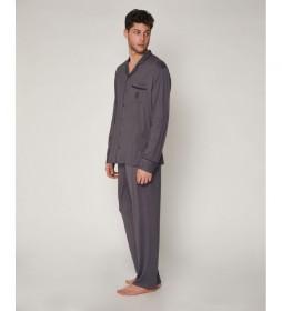 Pijama Night Soft gris