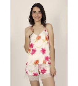 Pijama Tirantes Soft Thai Flowers para Mujer Flores multicolor