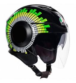 Agv Orbyt Ginza jet helmet black, yellow, green