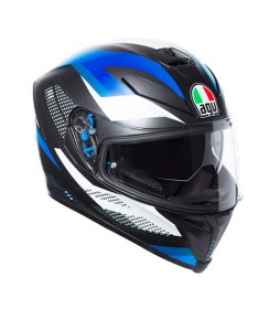 Agv Casco integral K-5 S Marble Matt black, white, blue -Pinlock-