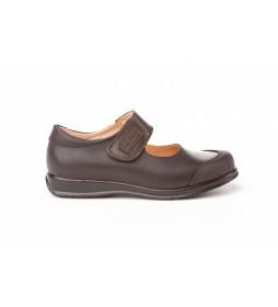 Calzado de Piel Mercedita Colegial marrón