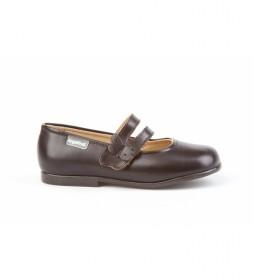 Calzado de Piel Merceditas  marrón