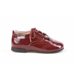 Zapatos de piel 1505 burdeos