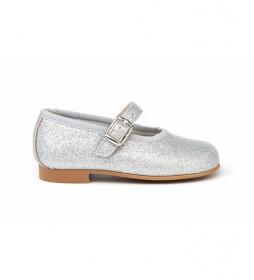 Zapato/Francesita Mini Glitter plata