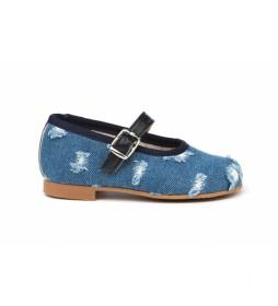 Zapato/Francesita vaquera azul