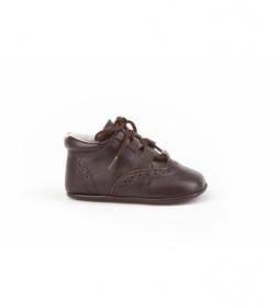 Zapato de piel /Inglesita bebé  marrón