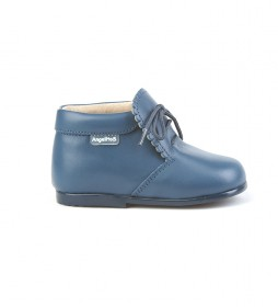Botines de piel 422 azul