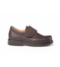 Zapatos de piel 435 chocolate