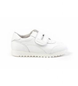 Zapatillas de piel School blanco