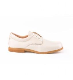 Zapatos de Piel Blucher beige