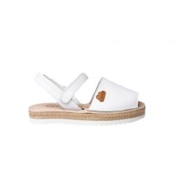 Sandalias Avarcas de piel  blanco