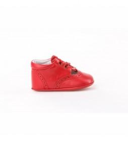 Zapatos de piel Inglesitas rojo