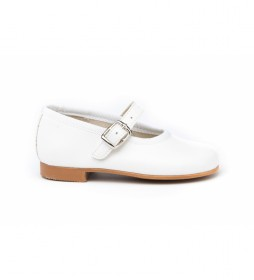 Calzado/Francesita Napa blanco