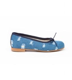 Manoletina/Bailarina Vaquera azul