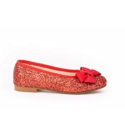 Zapato/ Manoletina Piel Gliter azul