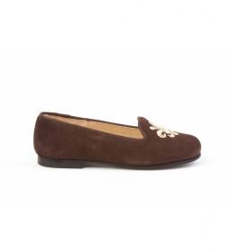 Zapato de piel ante marrón