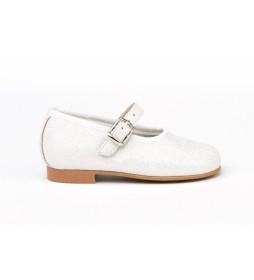Zapato/Francesita Mini Glitter blanco