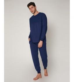 Pijama Corduroy marino
