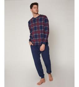 Pijama Jacquard azul