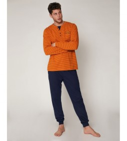 Pijama Street naranja, azul