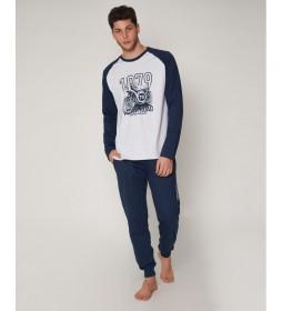 Pijama Road gris, azul