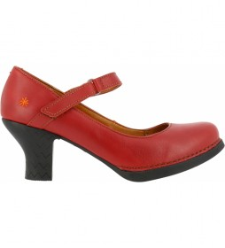 Zapatos de piel  Harlem 0933 rojo -Altura tacón: 6 cm-