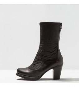 Botas de piel 1157 Gran Via negro -Altura tacón 8 cm-