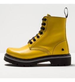 Botines de piel 1166 Marina amarillo