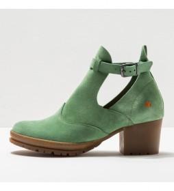 Botines de piel 1238  Camden verde -Altura del tacón: 5cm-