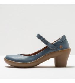 Zapatos de piel 1440  Alfama azul -Altura del tacón: 6,5cm-
