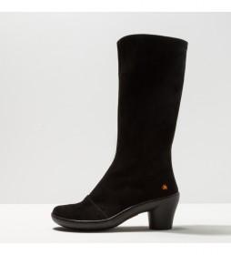 Botas de piel1449 Lux Alfama negro -Altura tacón: 6.5 cm-