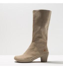 Botas de piel 1449 Lux Alfama beige -Altura tacón: 6.5 cm-