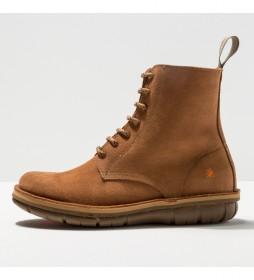 Botines de piel 1732  Misano marrón