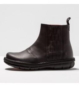 Botines de piel 1733 Misano negro