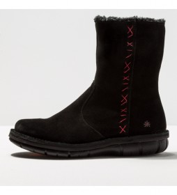 Botines de piel  1734 Lux Misano negro