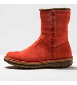 Botines de piel 1734 Lux Misano rojo