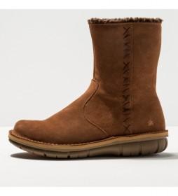 Botines de piel 1734 Lux Misano marrón