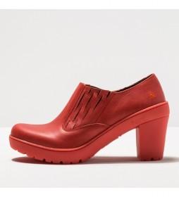 Zapatos de piel 1754 Travel coral -Altura tacón 8,5 cm-