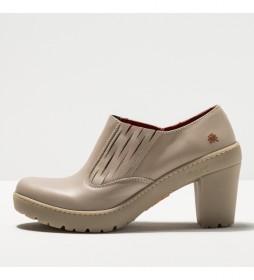 Zapatos de piel 1754  Travel beige -Altura tacón 8,5 cm-