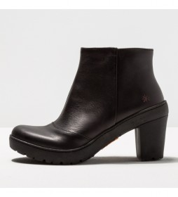 Botines de piel 1755  Travel negro -Altura tacón: 8.5 cm-