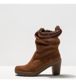 Botines de piel 1757 Lux Travel marrón -Altura tacón: 8.5 cm-