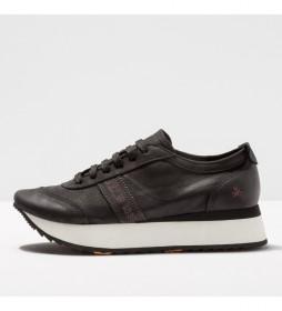 Zapatillas de piel 1793  kioto negro