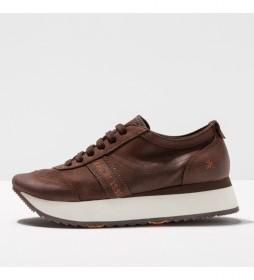 Zapatillas de piel 1793  kioto marrón