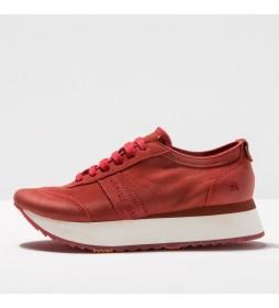 Zapatillas de piel 1793 kioto rojo