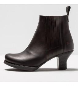 Botines de piel 1831 Harlem negro -Altura tacón: 6 cm-