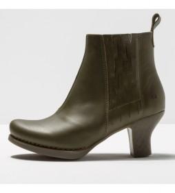 Botines de piel 1831 Harlem caqui  -Altura tacón 6 cm-