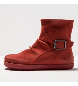 Botines de piel 1910 rhodes rojo
