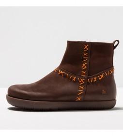 Botines de piel 1911 rhodes marrón