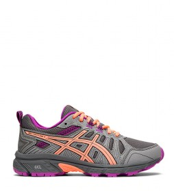 Asics trail running shoes Gel Venture 7 GS grey, coral