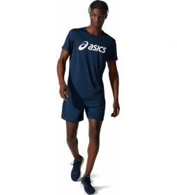 Camiseta Core Manga Corta marino